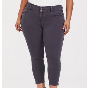 Torrid Stilleto Zip Jegging Cropped Legging Jeans